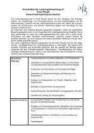 Grundsätze der Leistungsbewertung im Fach Physik ... - shuttle.de
