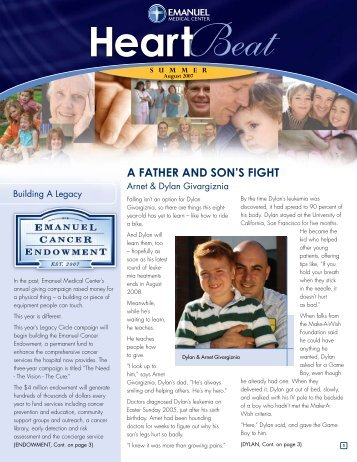 A FATHER AND SON'S FIGHT - Emanuel Medical Center
