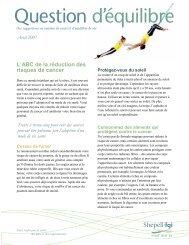 Question d'équilibre - L'ABC de la réduction des risques de cancer