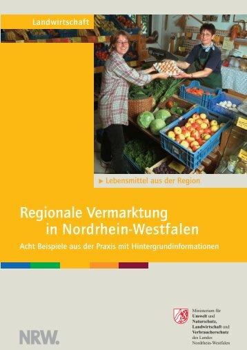 Regionale Vermarktung in Nordrhein-Westfalen - LANUV NRW ...