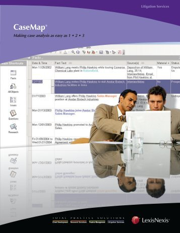 CaseMap brochure - LexisNexis® Litigation Solutions