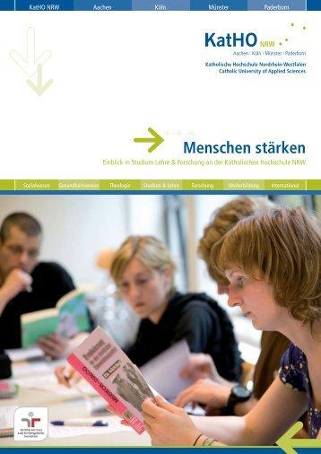 Menschen stärken - KatHO NRW