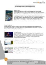 Wichtige Neuerungen in AutoCAD MEP 2013 Neue Funktionen