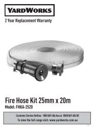 Fire Hose Kit 25mm x 20m 2 Year Replacement Warranty Model