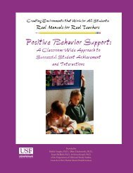 Positive Behavior Support: - Child & Family Studies - University of ...