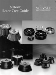 Sorvall Rotor Care Guide