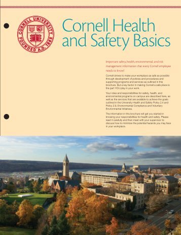 Cornell Health and Safety Basics - Environmental Health & Safety