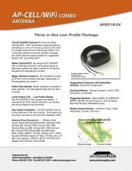 Three in One Low Profile Package AP85/18/24 - Antenna Plus