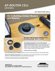 For In-Building Cellular Routers and Modems - Antenna Plus