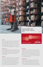 Electric High-Level Order Picker 1200 kg V12 Features