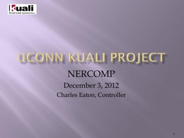 4. Kuali Financials - Charles Eaton - UCONN - NERCOMP