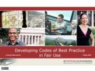 Developing Codes of Best Practice in Fair Use (as PDF) - NERCOMP