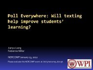 1. Will Texting Help Improve Student Learning ... - NERCOMP