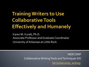 3. Training Writers to Use Collaborative Tools ... - NERCOMP