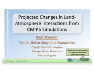 Projected changes in land-atmosphere interactions from CMIP5 ...