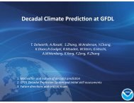Decadal Climate Prediction at GFDL - NOAA