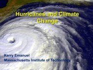 Tropical Cyclones and Climate Change - NOAA