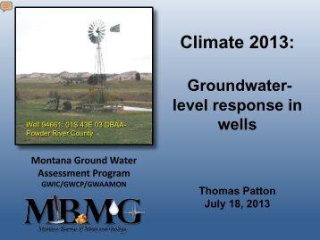 MBMG - Montana Drought Information