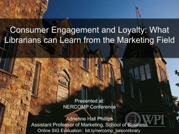 What Librarians can Learn from the Marketing Field - NERCOMP