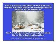 Prediction, Validation, and Calibration of Coastal Storms and ...