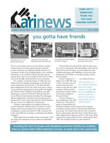 2006 Fall Newsletter - ARI