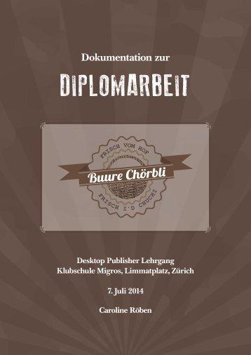 "Dokumentation \""Buurechörbli\"""