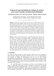 Proposta de uma metodologia de avaliaç ˜ao de ... - SBRC 2010