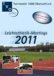 turnverein 1888 obersuhl eV abt. leichtathletik rhädenlauF 2011