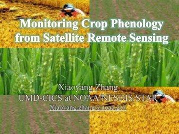 Monitoring Crop Phenology from Satellite Remote Sensing