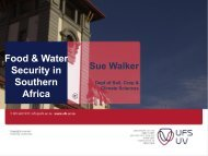 Perspectives on Food and Water Security in South Africa