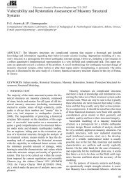 Vulnerability and Restoration Assessment of Masonry Structural ...