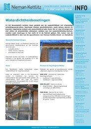 Waterdichtheidsmetingen - Nieman Raadgevende Ingenieurs