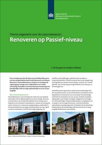 Renoveren op Passief-niveau