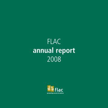 FLAC Annual Report 2008 - FLAC (Free Legal Advice Centres)