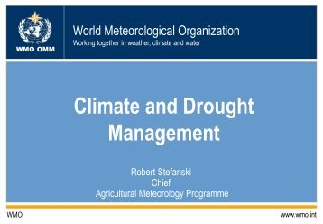 Climate and Drought Management - The World AgroMeteorological ...