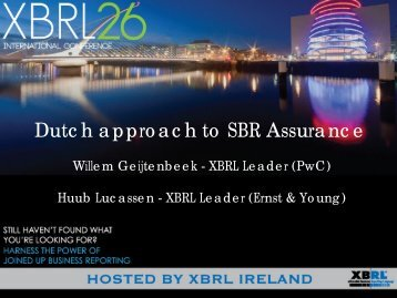 Dutch approach to SBR Assurance - NBA