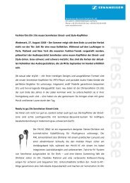 PRESS RELEASE - Sennheiser Communications