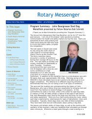Newsletter -- March 3, 2008 - Eau Claire Rotary