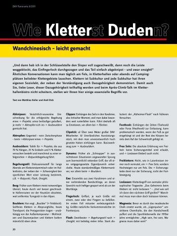Kletter Duden - Deutscher Alpenverein