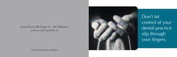 the Alliance brochure