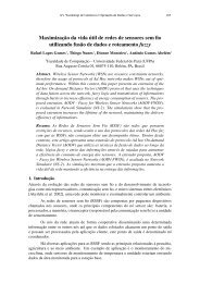 Maximização da vida útil de redes de sensores sem ... - SBRC 2010