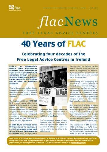 online in PDF format - FLAC (Free Legal Advice Centres)