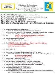 Programm _Sa_So _09.cdr - Oldenburger Senioren Messe