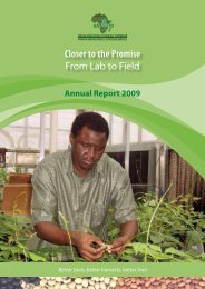 Closer to the Promise From Lab to Field - African Agricultural ...