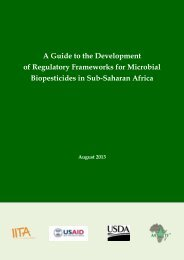 A Guide to the Development of Regulatory Frameworks for Microbial ...
