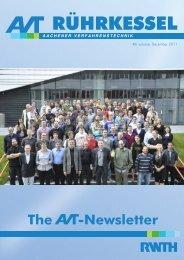 Newsletter - Aachener Verfahrenstechnik - RWTH Aachen University