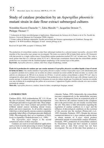 PDF text - Les Presses agronomiques de Gembloux