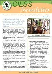 Newsletter CILSS - mars 2012 - Centre Régional AGRHYMET