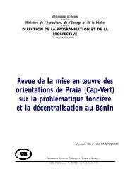 Rapport National Du Bénin - Revue de l'État de mise en ... - CILSS
