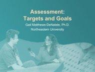 2. Targets and Goals - Matthews-DeNatale - NERCOMP